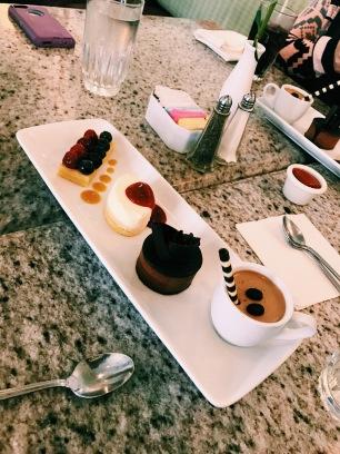 Mini sobremesas (Grand Floridian Cafe)